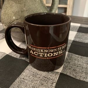 "Coffee Mug ""A Man is Known by his Actions"""